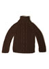 KK536 Boy's Merino Superwash Turtleneck