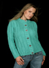 KK495 Sea Green Cabled Cardigan
