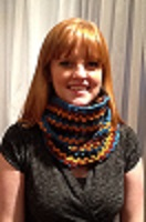 KC647 Crocheted V-Stitch Neck Warmer